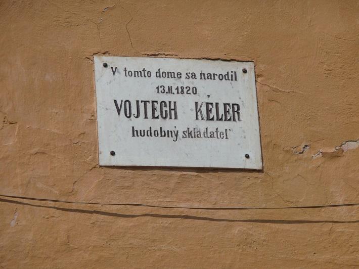 pamätná tabuľa Vojtechovi Kélerovi na rodnom dome v Bardejove, foto: muzeumbardejov.sk
