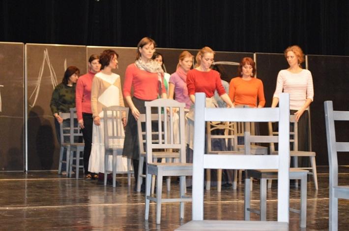 Foto zo skúšky  opery Dialógy karmelitánok