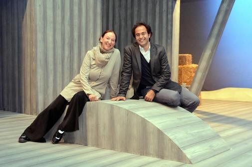 Arila Siegert, režisérka a Leo Siberski, dirigent Theater Kiel Ehrhardt
