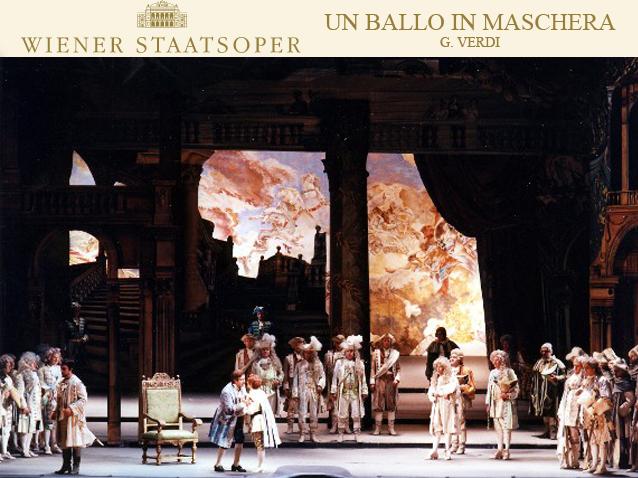 Maškarný bál, Viedenská štátna opera réžia: Gianfranco de Bosio