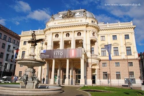 Historická budova SND foto: Ľudovít Vongrej