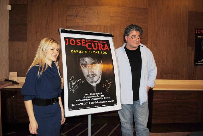 Linda Ballová a José Cura, tlač. konferencia k bratislavskému koncertu, foto: Ľudovít Vongrej