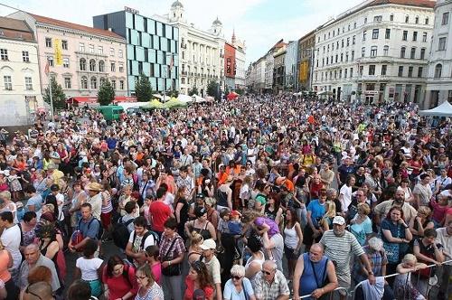 Slávnosť masiek v Brne 2014