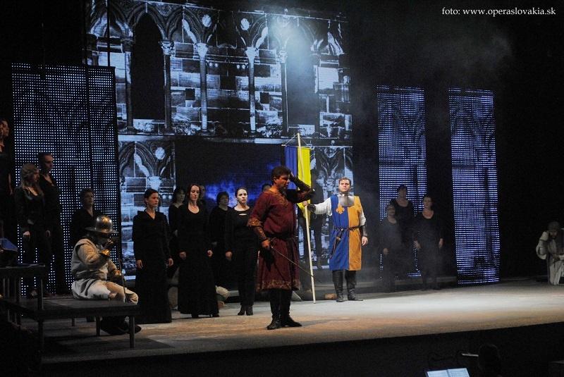 Viva Verdi 2014 / Giovanna d´Arco Ewan Bowers, Martin Gyimesi a zbor Foto: Ľudovít Vongrej