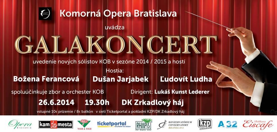 Galononcert Komorná opery Bratislava
