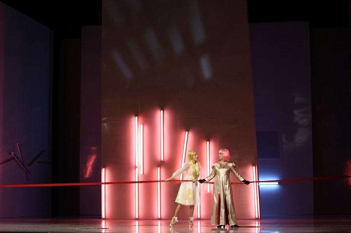 Andrea Vizvári (Servilia), Svetlana Doneva (Vitellia) La clemenza di Tito SND, Opera SND foto: Jozef Barinka