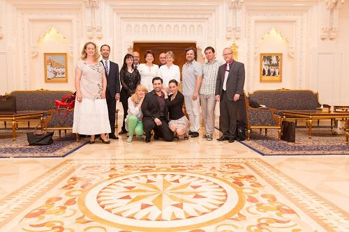 Royal Opera House Muscat stretnutie realizátorov inscenácie Rusalky s riaditeľkou Christinou Schepelmann Foto: Khalid Al Busaidi, Royal Opera House Muscat