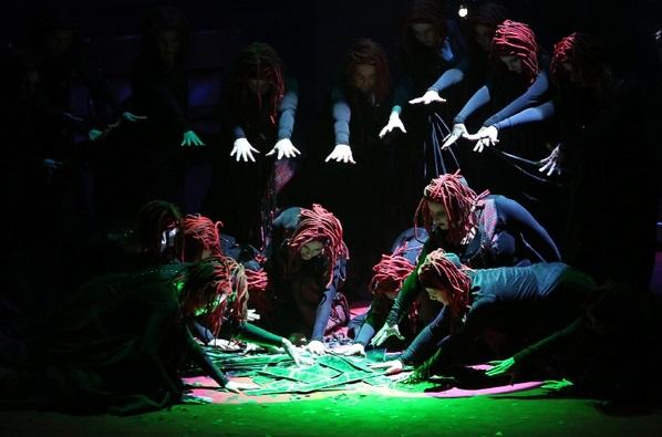 Scéna z opery Macbeth Štátna opera Banská Bystrica