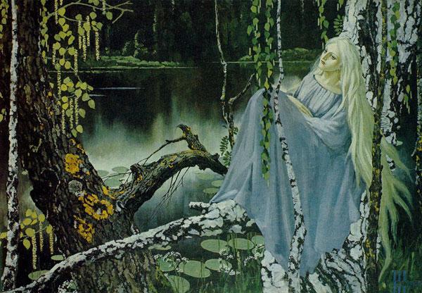 Víla Rusalka ilustračný obrázok