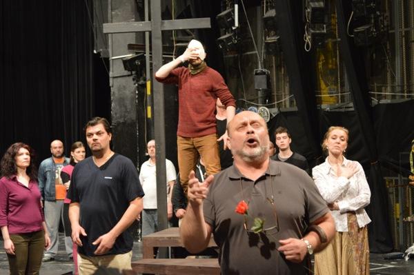 fotografia zo skúšky pripravovanej premiéry v košickej opere