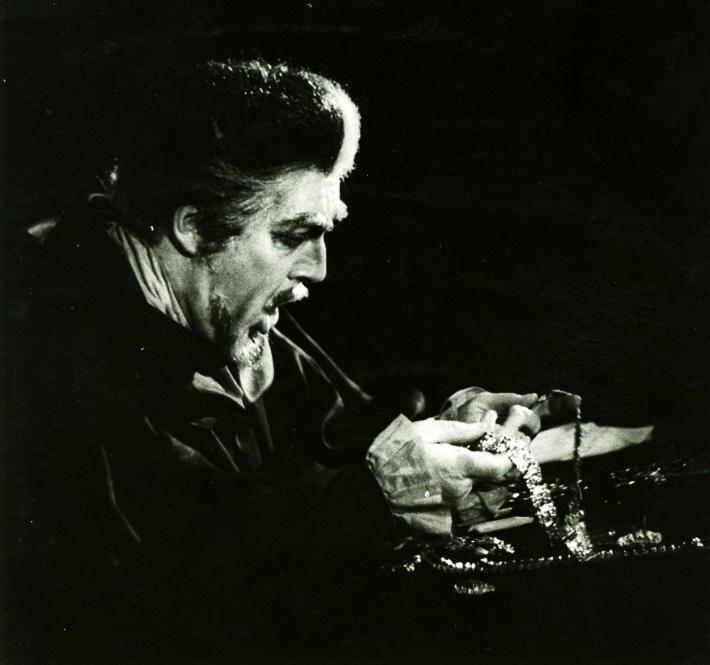Cardillac, Opera SND, 1964, Bohuš Hanák (Cardillac, zlatník) foto Jozef Vavro