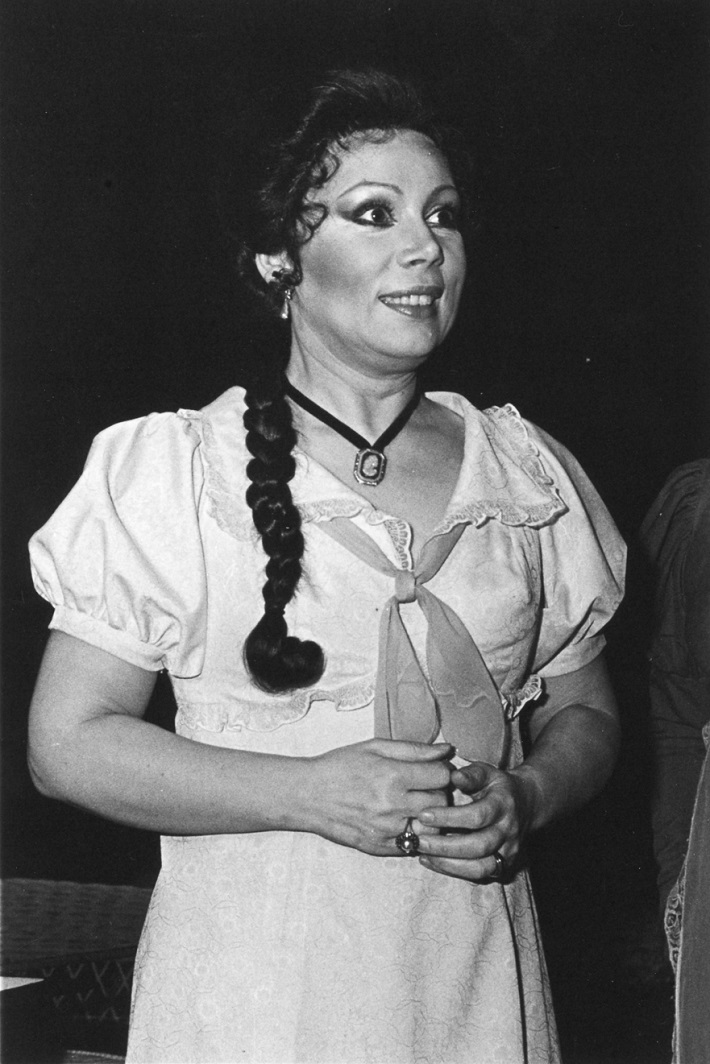 Eugen Onegin, Opera SND, 30.12.1984, Mirela Freni (Tatjana), foto: Anton Sládek