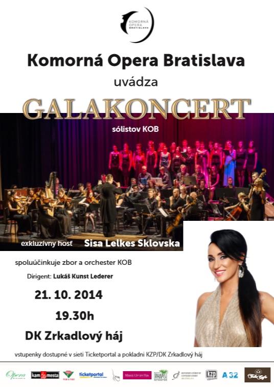 Komorná opera Bratislava, plagát galakoncert KOB