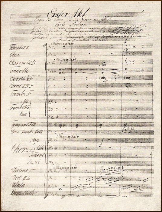 Rukopis opery Alfred od Antonína Dvořáka