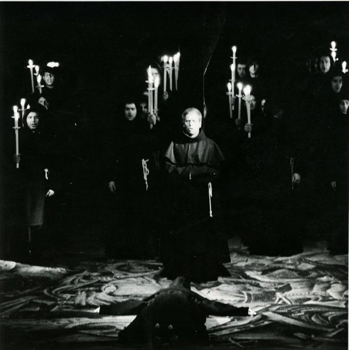 Sila osudu, Opera SND, 1965, Ondrej Malachovský (páter Guardian) foto Jozef Vavro