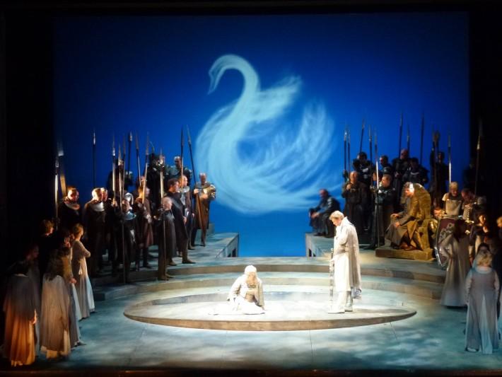 Lohengrin, scéna Stadttheater Wels