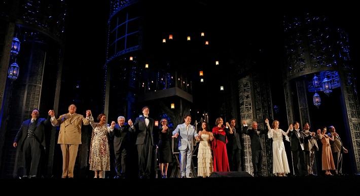 Ďakovanie po otváracom predstavení novej sezóny v Met, foto: Marty Sohl