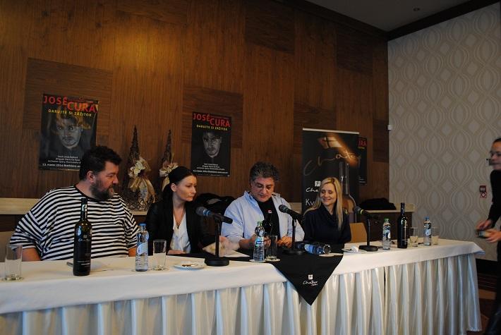 Tlačová konferencia k bratislavskému koncetu José Curu a Lindy Ballovej, foto: Ľudovít Vongrej