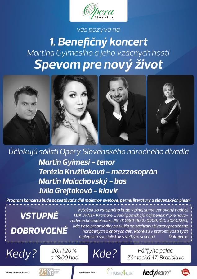 Benefičný koncert Martina Gyimesiho