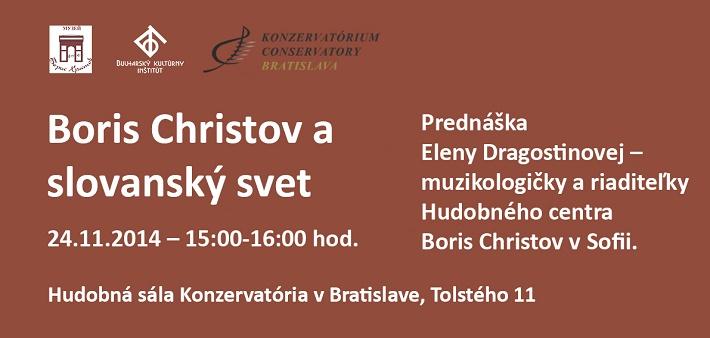Boris Christov prednáška v BA