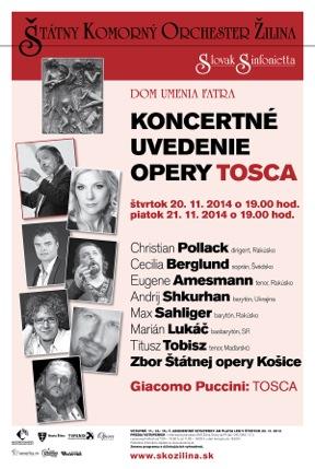 Tosca, ŠKO Žilina, plagát
