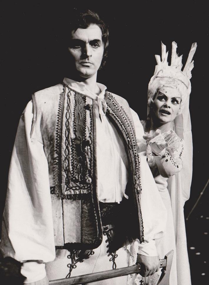 Štefan Hudec (Martin) a Jarmila Smyčková (Studená princezná) Martin a Slnko, Opera SND