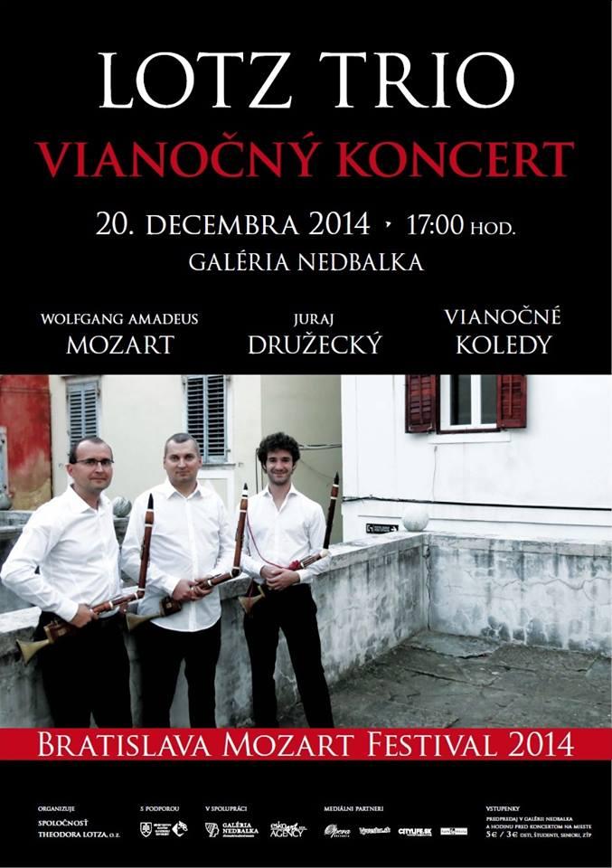 Bratislava Mozart festival 2014, Lotz Trio, plagát