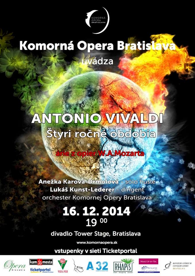 Koncert Komornej opery Bratislava, Mozart, Vivaldi
