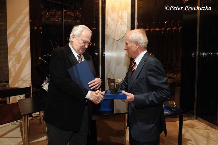 Odovzdávanie Ceny Literárneho fondu 2014, František Livora - Cena za celoživotné dielo, foto: Peter Procházka