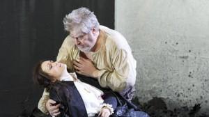 Rigoletto, Viedenská štátna opera, 2014, Erin Morley (Gilda), Paolo Rumetz (Rigoletto), foto: Michael Pöhn