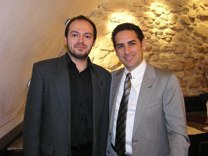 Marian Gabriš s J.D.Flórezom v Bratislave v r. 2011
