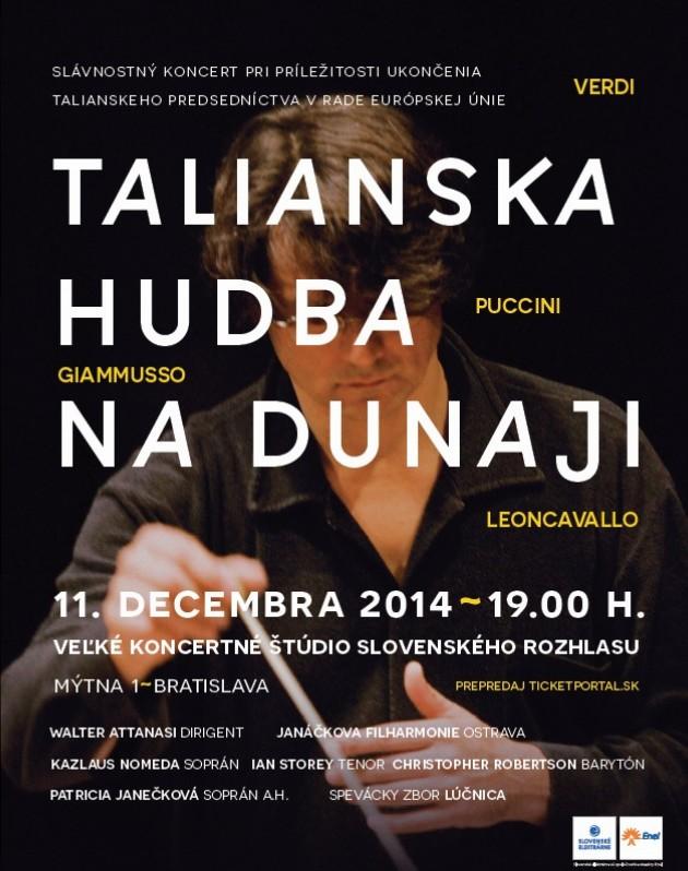 Talianska hudba na dunaji, plagát