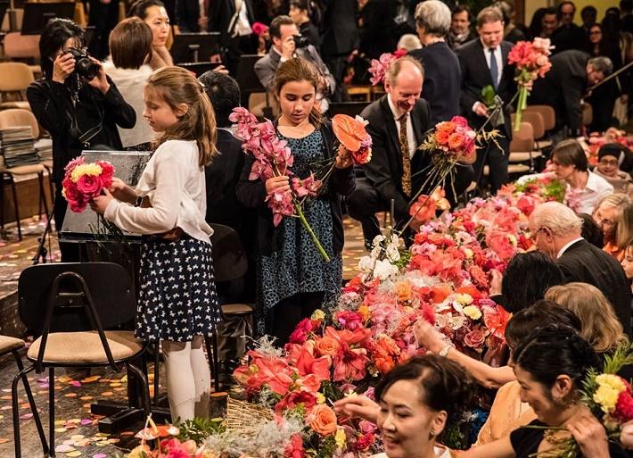 Novoročný koncert Viedenských filharmonikov 2015, foto po koncerte