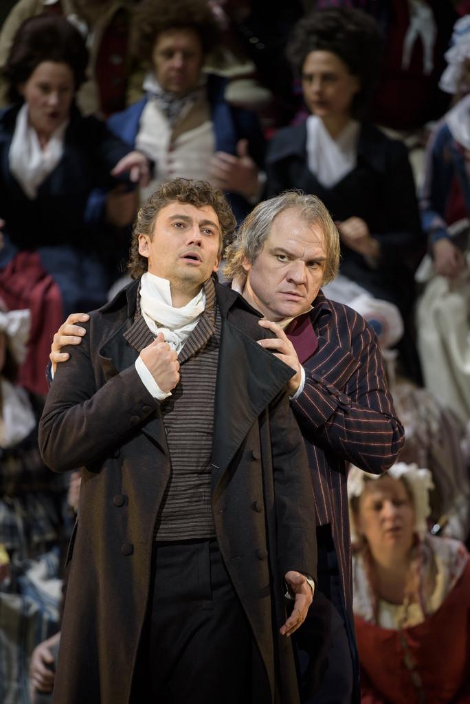 Andrea Chénier, Royal Opera House, J. Kaufmann (Andrea Chénier), Ž. Lučić (Carlo Gérard), foto: Bill Cooper