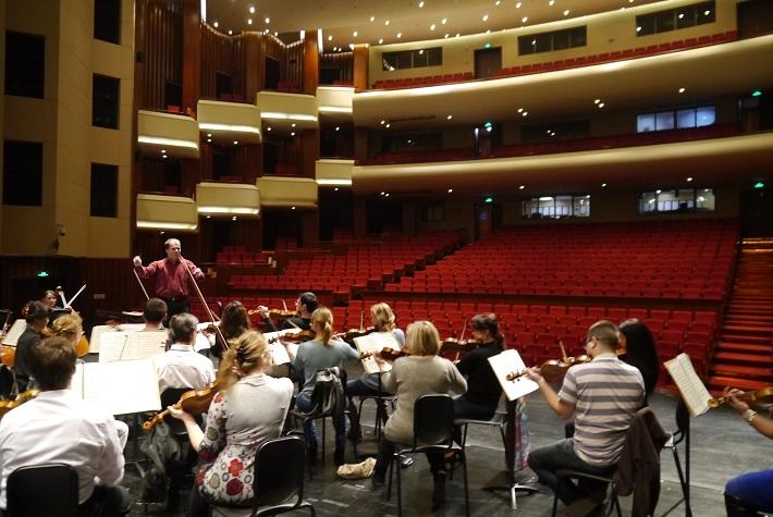Koncertné turné Štátnej filharmónie Košice v Číne, foto zo skúšky