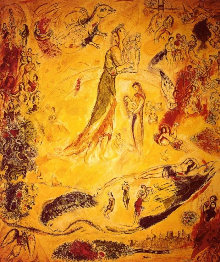 Veľkoplošný nástenný obraz Marca Chagalla v Metropolitnej opere New York