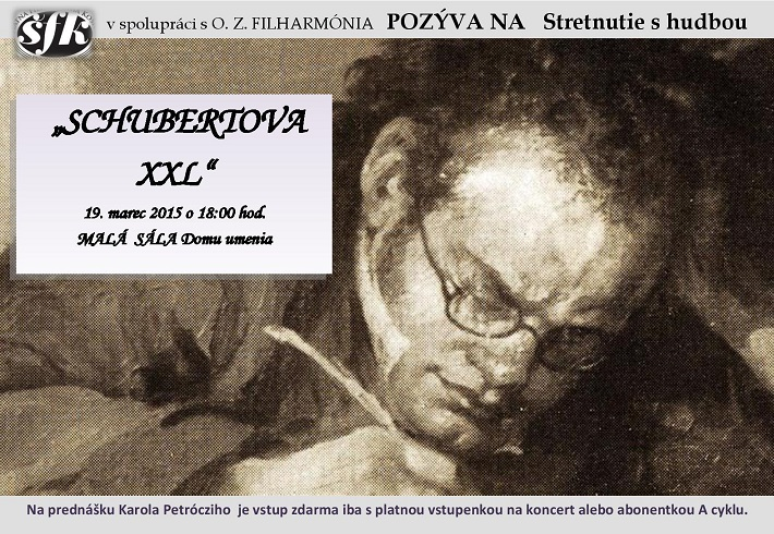 Pozvánka na stretnutie s hudbou - Schubert
