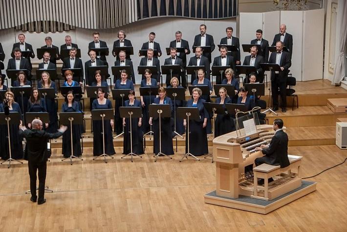 Slovenský filharmonický zbor, J. Chabroň, zbormajster, S. Šurin, organ, foto: SF