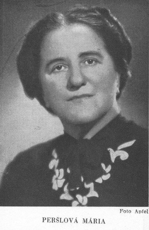 Mária Peršlová, (1890-1949)