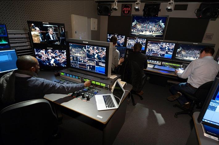 Štúdio Berlínskej filharmónie, fotografiu pre portál Opera Slovakia poskytlo tlačové oddelenie Berlínskych filharmonikov, foto: Peter Adamik
