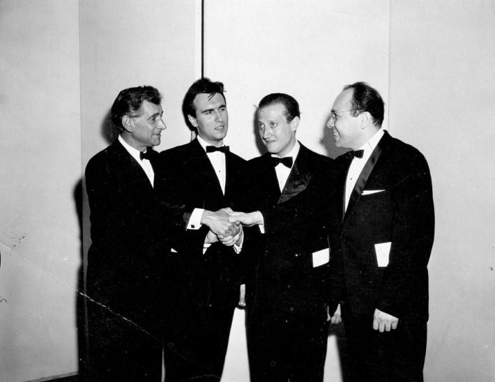 zľava: Bernstein, Abbado, Calderon, Košler