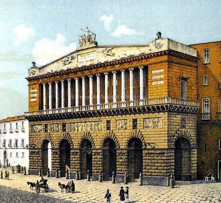 Divadlo San Carlo v Neapole, divadlo v roku 1889, ilustrácia – Inštitút archeológie a dejín umenia v Taliansku