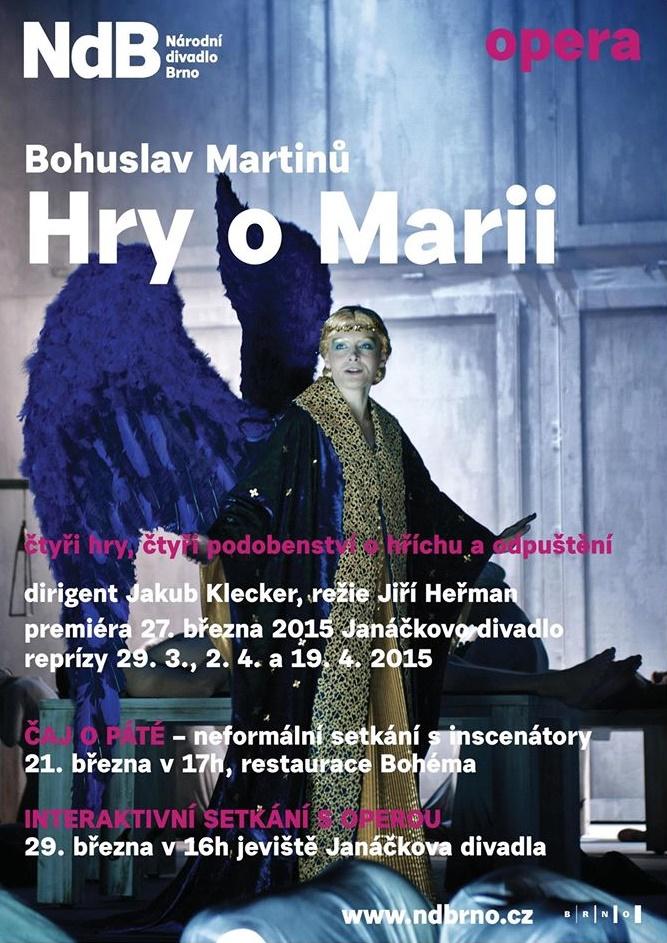 Hry o Marii, ND Brno, plagát
