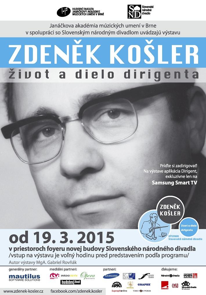 Plagát k výstave Zdeněk Košler - život a dielo dirigenta