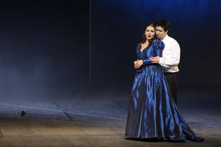 Romeo a Júlia, Opera SND, E. Hornyáková (Júlia), K. Kim (Romeo), foto: Jozef Barinka