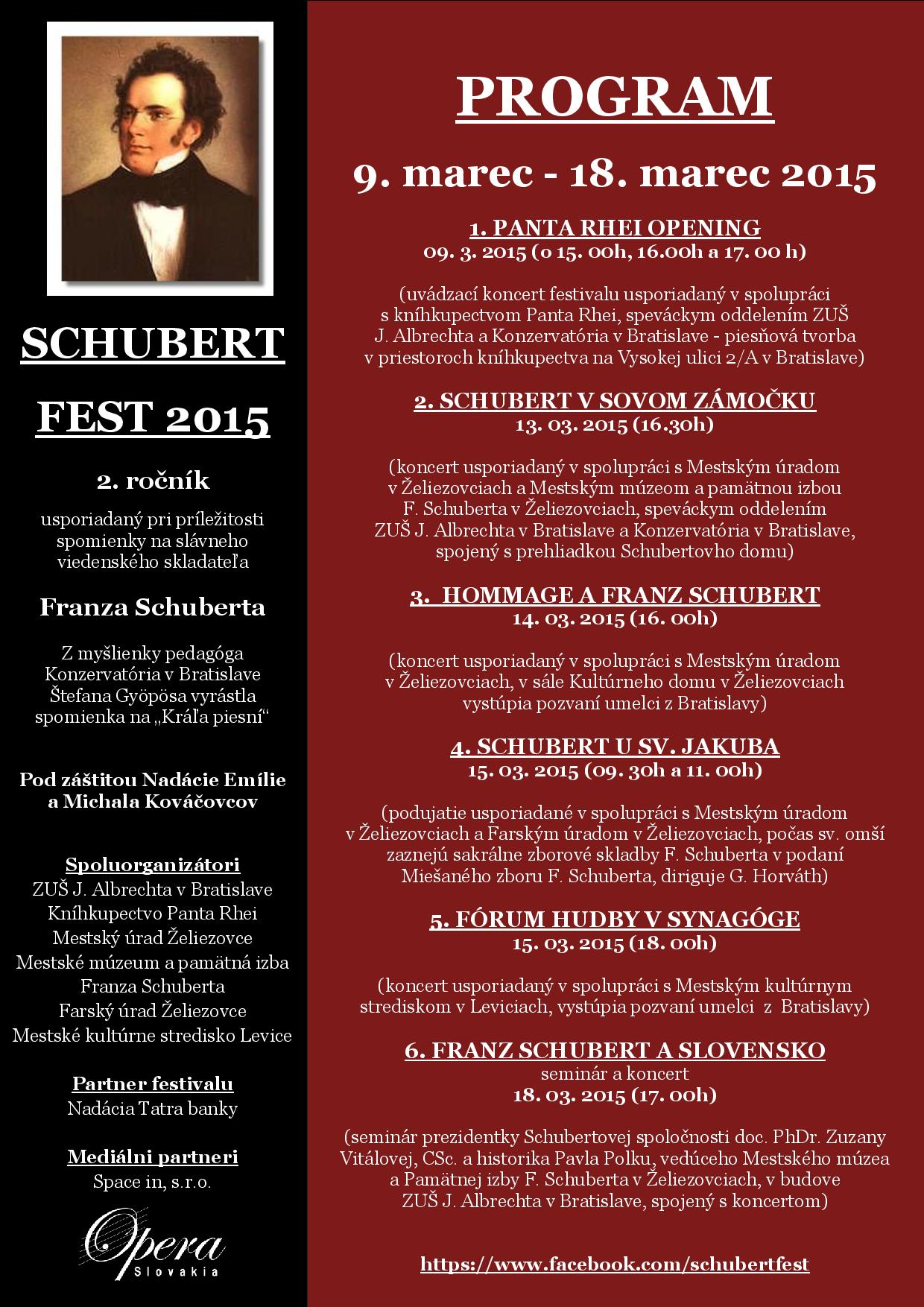 Schubert Fest 2015, plagát