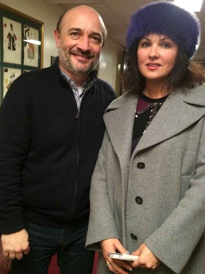 V. Chmelo a A. Netrebko v Metropolitnej opere New York, foto: súkromný archív