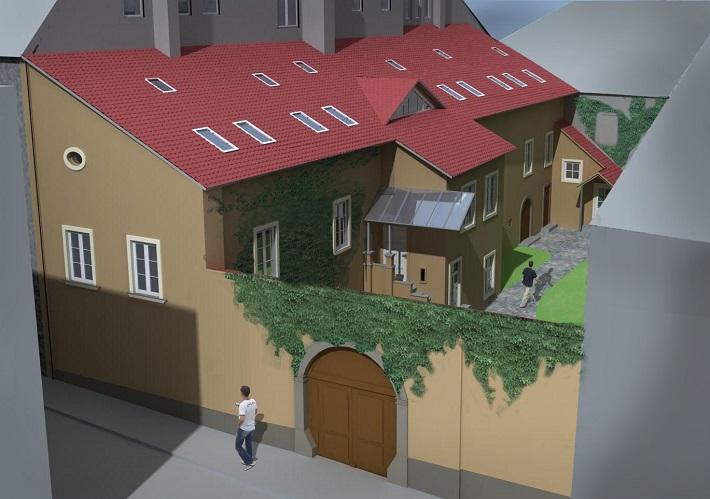 Vizualizácia zrekonštruovaného Domu Albrechtovcov