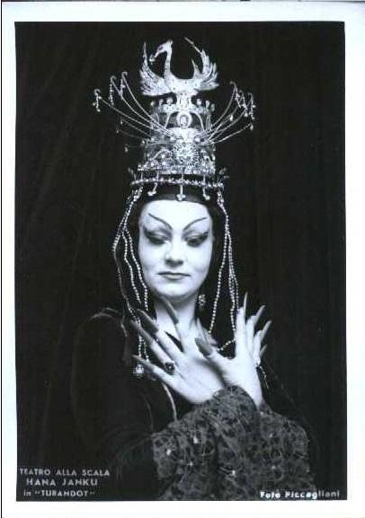 Turandot, La Scala Miláno, 1968, Hana Svobodová (Turandot)