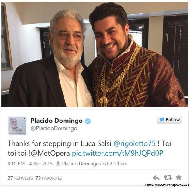 Spoločné foto Dominga a Salsiho, foto: Twitter